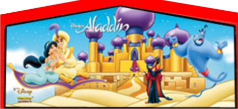Licensed Disney Aladdin Jasmine Inflatables Girls Party Theme