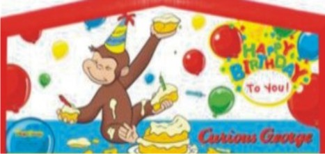 Curious George Jump House Moonwalk Childrens Party Theme Rentals – Curious George Birthday Cards